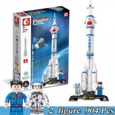 Конструктор Sembo Block Космическая ракета 904 дет. 56х38.5х8 смок203304