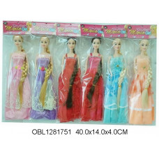 кукла длинный волос 6 видовCF18ТК134057