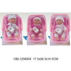 кукла пупс в переноске 3 вида9905-5ТК134324