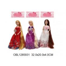 кукла длинный волос 3 видаYT2477ТК134538