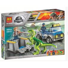 "Конструктор BELA 10919 Dinosaur World ""Грузовик спасателей для перевозки раптора"" 102 дет. 26х19х4.5 смОК10919"