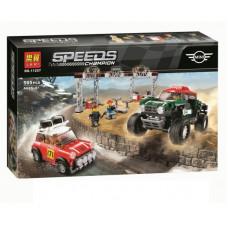 """Конструктор Lari 11257 Speed Champions """"Mini Cooper и John Cooper works Buggy"""" 505 дет. 43х28х6 смОК11257"""