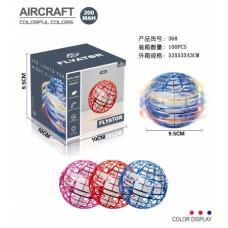 Индукционный летающий шар-бумеранг +свет на USB размер 10х10см ОК368