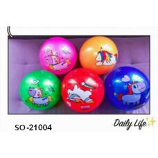 """Мяч резиновый """"Лошадки"""" 22 см 60 гр.ОКRK-21004"""