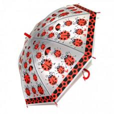 Зонтик детский с рисунком  прозрачный 6 цветов 48см со свисткомОКSO-0005