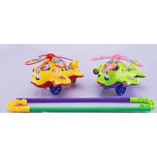 """Каталка """"Вертолет"""" 2 вида  для малышейОК0322"""