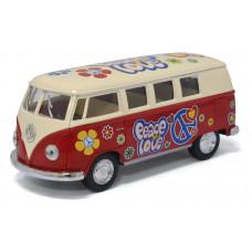 1:32 1962 Volkswagen Classical Bus раскрашенный с бежевой крышейБТ5377DFKT12, 144