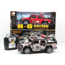 Машина Джип H-6 радиоуправляемая с пультом в коробке 30х12х13смОК699-06(755-18)