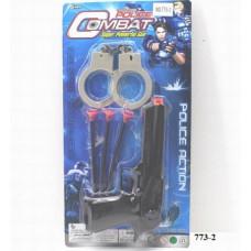 """Набор игровой  """"Полиция"""" с наручниками, пистолет в блистере 36х23х3смОК773-2"""