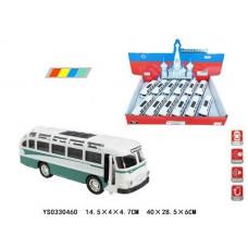 """Набор """"Автобус"""" свет+ русская озвучка двери открываются в упаковке 12шт размер 14.5х4х4.7смОКTCC1814-12D"""