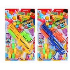 Игровой набор Бластер с шариками и кеглямиОК648-19