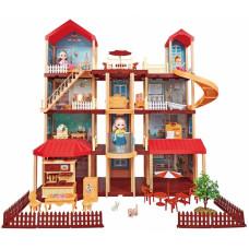 """Кукольный домик """"Мечта 3"""" с мебелью 412 деталей в кор. 75х44х16.3смОК668-20"""