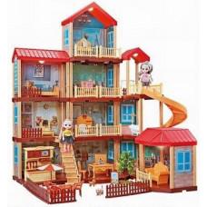 """Кукольный домик многоуровневый """"Мечта 2"""" с мебелью 324 детали в кор. 66х40х15.5смОК668-21A"""