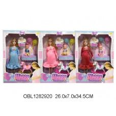 кукла беременная с пупсом 3 вида3363-149ТК134395