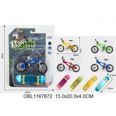 минискейт+велосипед металл. 4 цвета55016-5ТК134491