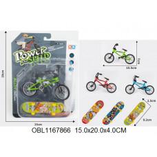 минискейт+велосипед металл. 3 цвета55015-5ТК134492