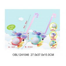 каталка вертолет со светом и музыкой 2 цвета8581BТК132600