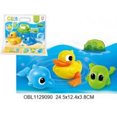 животные заводные водоплавающие 3 шт/упаковка801ТК133451