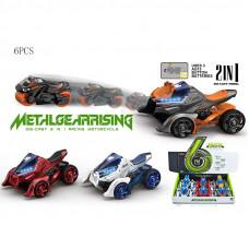 1:32 инерционный металл. квадроцикл с двумя вылетающими мотоциклами со светом и звукомБТMY66-M2222