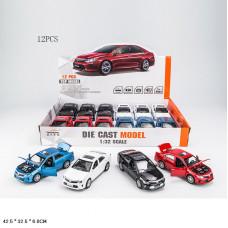 инерц. металл. 1:32 Toyota со звуком и светомБТ32125